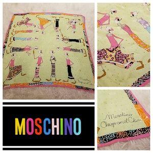Unusual & Adorable MOSCHINO Silk Scarf